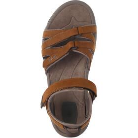 Teva Tirra Leather Sandalen Damen rust